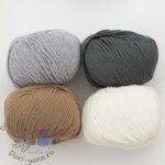 сверху слева 302 светло-серый, справа 5017 темно-серый; снизу светло-коричневый 9905 и молочный 7800